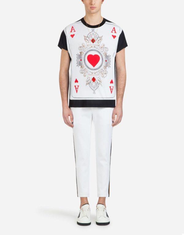 Мужская мода 2020 лето: футболка с принтом туза