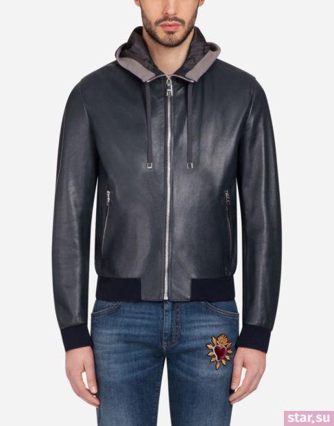черная кожаная куртка весеннее-летнего сезона 2018