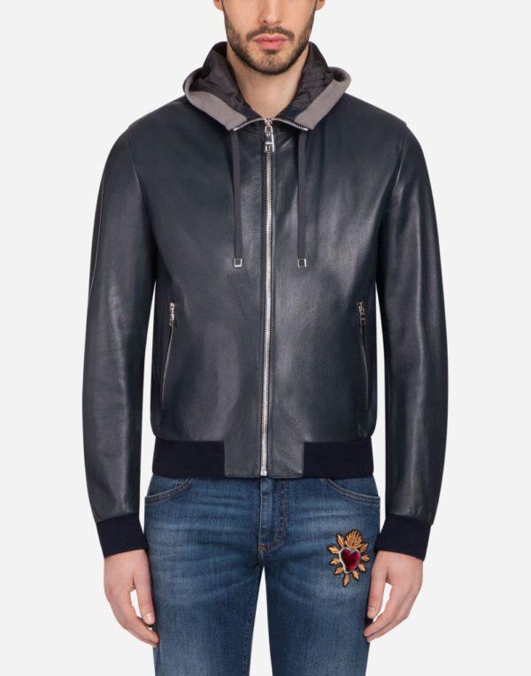 черная кожаная куртка весеннее-летнего сезона
