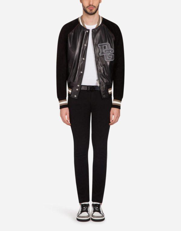Мужская мода 2020 весна: спортивная куртка черная DG