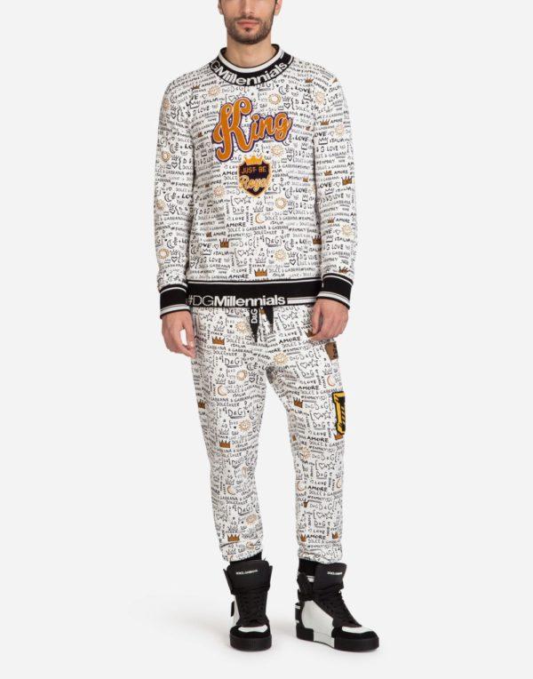 Мужская мода весна лето 2020: спортивный костюм с принтом KING